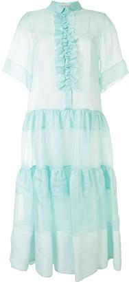 Lee Mathews Gemma frill-trimmed tiered dress