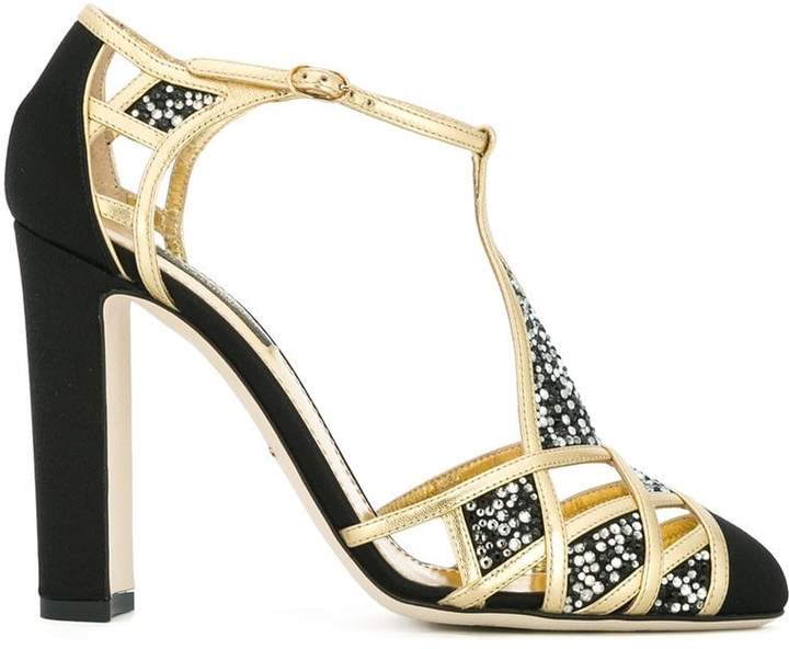 Dolce & Gabbana embellished t-bar sandals
