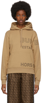 Burberry Beige Oversized Horseferry Hoodie