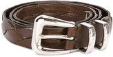 Brunello Cucinelli interlaced leather belt - men - Leather - 105