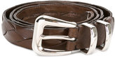 Brunello Cucinelli interlaced leather belt - men - Leather - 95