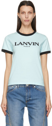 Lanvin Blue Embroidered Logo T-Shirt