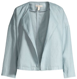 Eileen Fisher Draped Linen Jacket