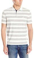 Nautica Men's Classic Fit Mini Stripe Polo Shirt