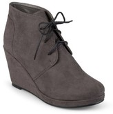 Journee Collection Women's Faux Suede Wedge Booties