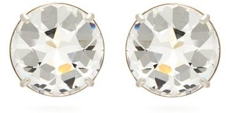 Miu Miu Large Crystal Stud Clip Earrings - Womens - Crystal