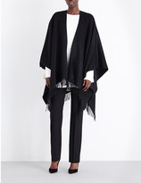 Max Mara Fringed wool cape