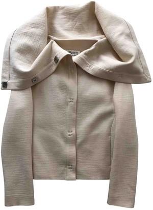Maison Margiela Ecru Wool Jackets