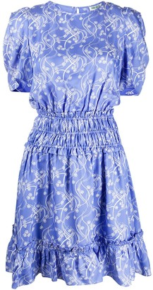 Kenzo floral print ruched dress