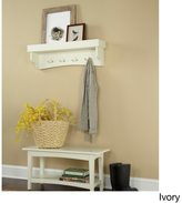 Alaterre Fair Haven Coat Hook and Bench Set
