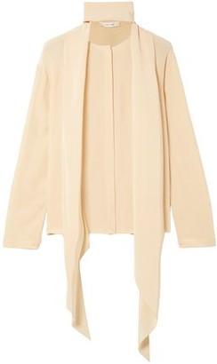 The Row Katina Draped Silk Blouse