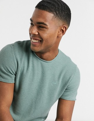 Hollister short sleeve solid crew neck knit in green