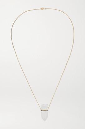Noor Fares 18-karat Gray Gold, Rock Crystal And Diamond Necklace