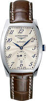 Longines L2.642.4.73.4 Evidenza stainless steel and leather watch