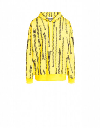 Moschino Zip Hoodie Man Yellow Size 44 It - (34 Us)