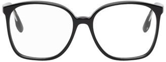 Victoria Beckham Black Guilloche Vintage Oversized Square Glasses