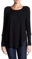 Sweet Romeo Thermal Long Sleeve Hi-Lo Sweater