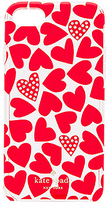 Kate Spade Scattered Hearts iPhone 7 Case in Red.