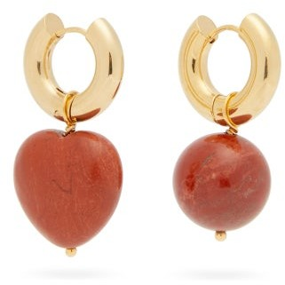 Timeless Pearly Mismatched Heart 24kt Gold-plated Earrings - Gold