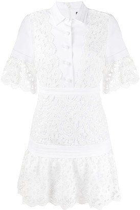 Alexis embroidered lace shirt dress