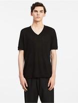 Calvin Klein Platinum Linen Easy V-Neck T-Shirt