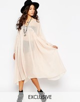 Reclaimed Vintage Angel Maxi Sheer Shirt Dress