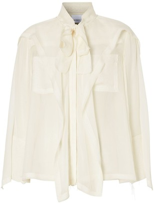 Burberry Ruffled Pussy-Bow Blouse
