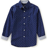 Nautica Big Boys 8-20 Button-Down Long-Sleeve Woven Shirt