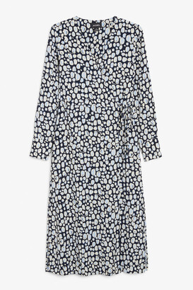 Monki Long wrap dress