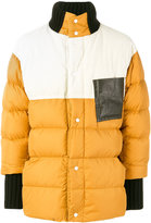 Marni padded coat - men - Cotton/Calf Leather/Feather Down/Virgin Wool - 46