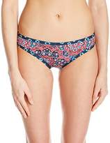 Lucky Brand Women's Festival Medallion Reversible Cheeky Hipster Bikini Bottom