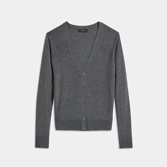 Theory Silken Knit V-Neck Cardigan