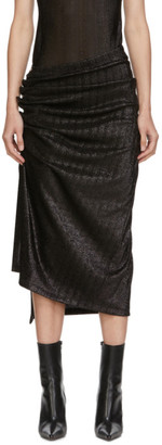 Paco Rabanne Black Draped Skirt
