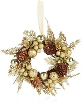 Bloomingdale's Gold Berry and Pinecone Wreath Ornament