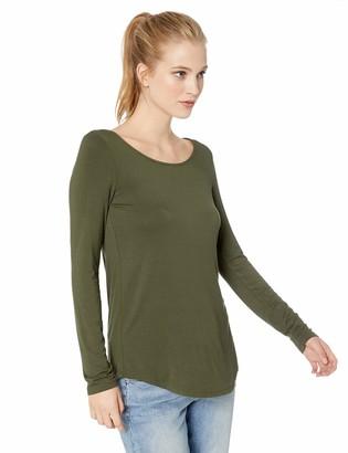 Daily Ritual Amazon Brand Women's Jersey Long-Sleeve Scoop Neck Tunic