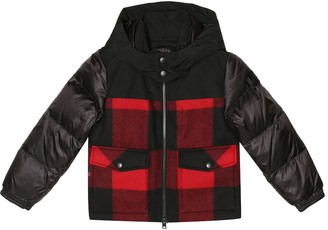 Woolrich Kids Buffalo checked down jacket