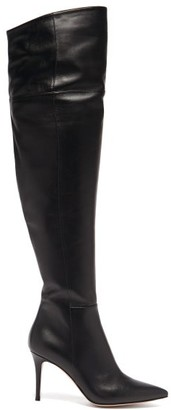 Gianvito Rossi Over-the-knee 85 Leather Boots - Black