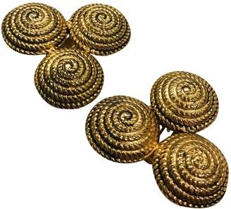 Moschino Gold Metal Earrings