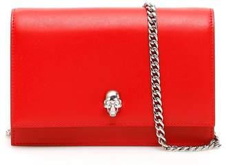 Alexander McQueen Embossed Skull Detail Mini Crossbody Bag