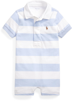 Ralph Lauren Kids Rugby Jersey Polo Playsuit, Size 3-18 Months