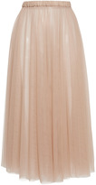 Rochas Layered Tulle Column Skirt
