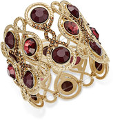 INC International Concepts Gold-Tone Large Stone Stretch Bracelet, Only at Macy's