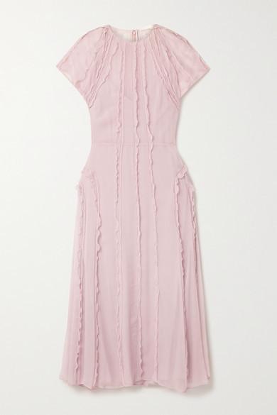 Thumbnail for your product : Jason Wu Collection Ruffled Silk-crepon Midi Dress - Blush