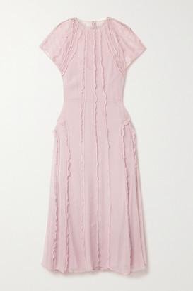Jason Wu Collection Ruffled Silk-crepon Midi Dress - Blush