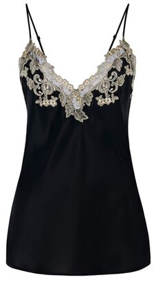 La Perla Camisole In Silk With Embroidered Tulle