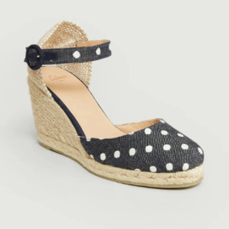 Castaner Navy Blue Textile and Leather Cala Espadrille Sandal - Textile/Leather | navy blue | 39 - Navy blue