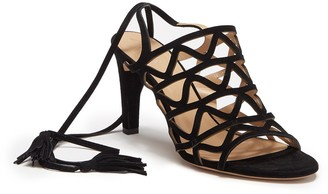 Chloé Cage Lace-Up Sandal