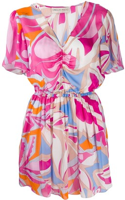 Emilio Pucci Abstract Print Short Dress