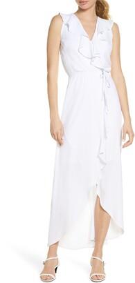 Fraiche by J Ruffle Faux Wrap Maxi Dress