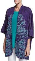 Misook 3/4-Sleeve Floral-Print Jacket, Plus Size